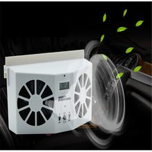 Solar Sun Power Car Auto Air Vent Cool Fan Cooler Ventilation System Radiator car Air Purifiers(China)