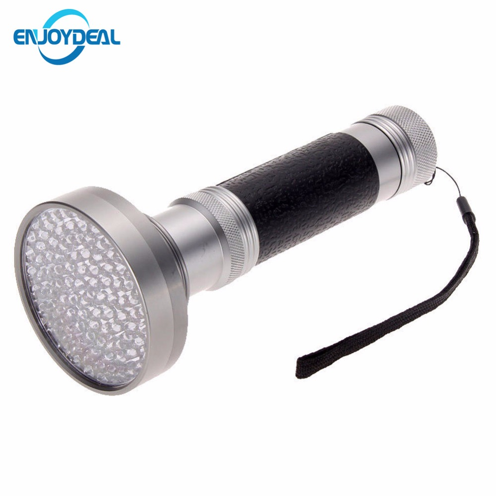 High Quality 100 LED UV Flashlight Torch <font><b>Light</b></font> Ultra Violet <font><b>Light</b></font> Blacklight Scorpion Flashlight Super Bright Detection <font><b>Light</b></font>