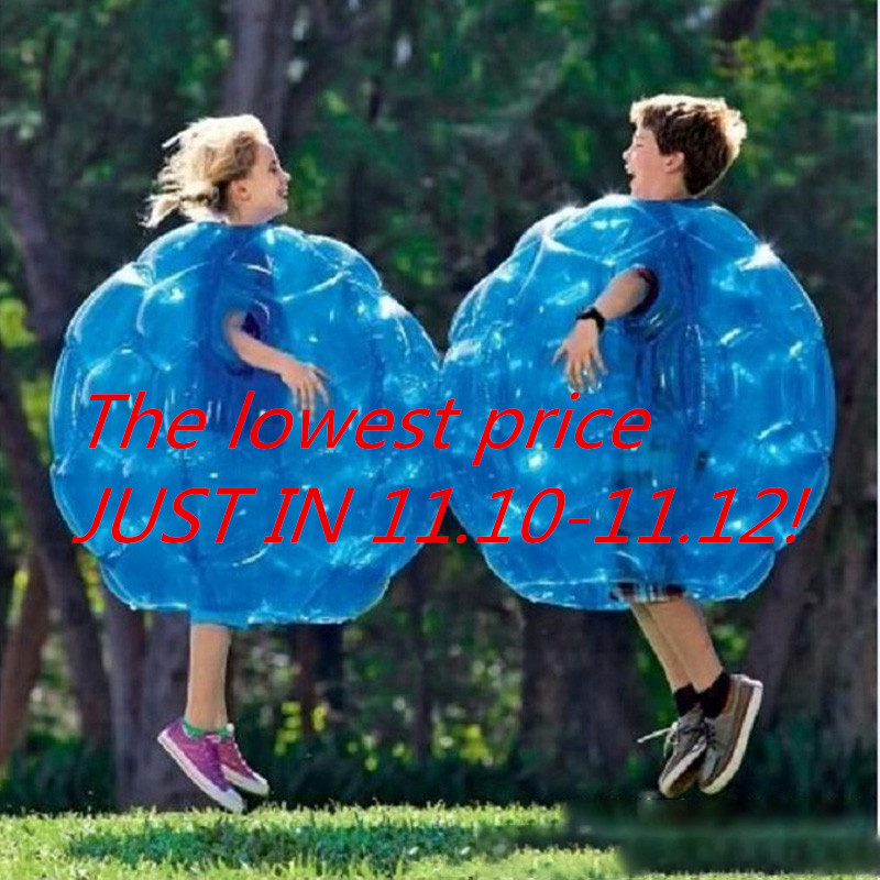 1pc 60CM Inflatable Bubble Bumper Balls Body Collision Bumper Ball Tpu Friendly For Kids Outdoor Activity Body Punching Ball clear human inflatable bumper bubble ball best tpu inflatable ball