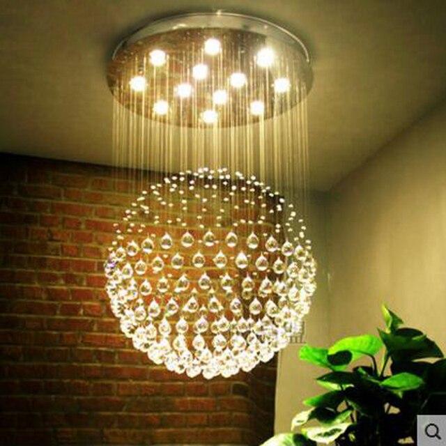 aliexpress.com : acquista lampadari di cristallo rotondo moderno ... - Lampadari Da Camera Da Letto