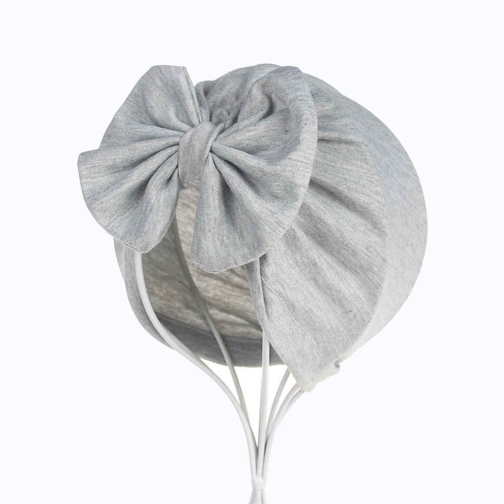 PUDCOCO الفتيات الفتيان الطفل الطفل Bowknot بلون بسط عمامة عارضة قبعة الشعر رئيس التفاف كاب