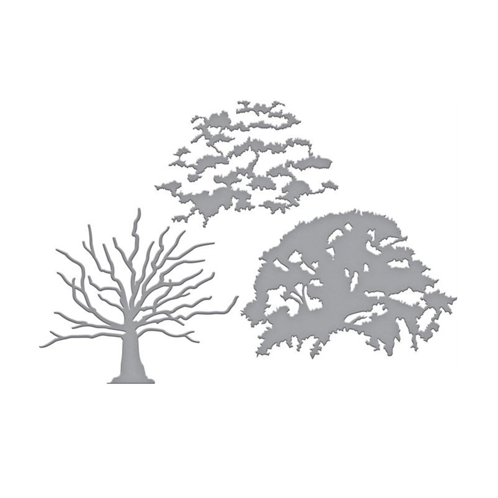 Grand arbre métal coupe dies scrapbooking nouveau arrivage pochoir nouveau 2019 pochoir pour bricolage artisanat meurt décor cartes Photo