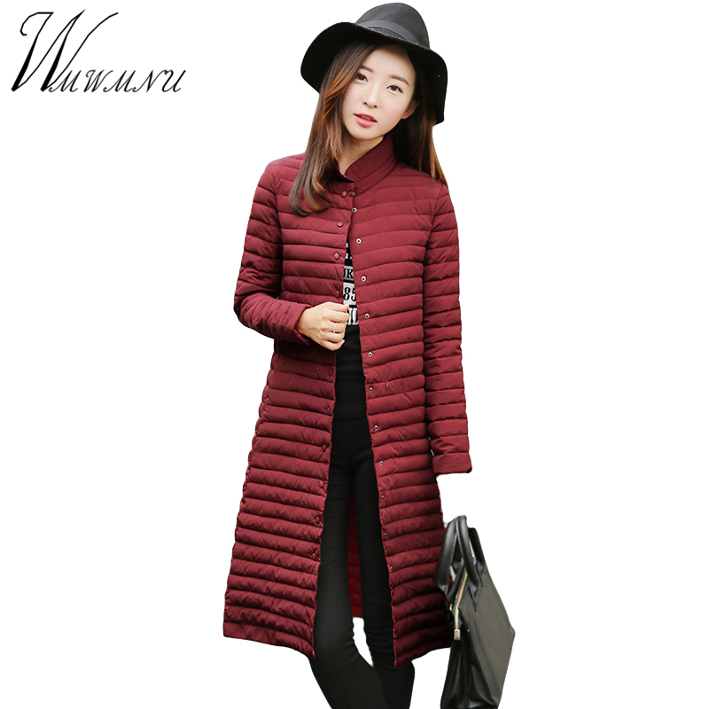wmwmnu fashion slim long coat warm cotton winter parka women thin jacket woman jacket autumn Solid color casual manteau femme 2016 autumn winter fashion big lapel casual woman long style coat