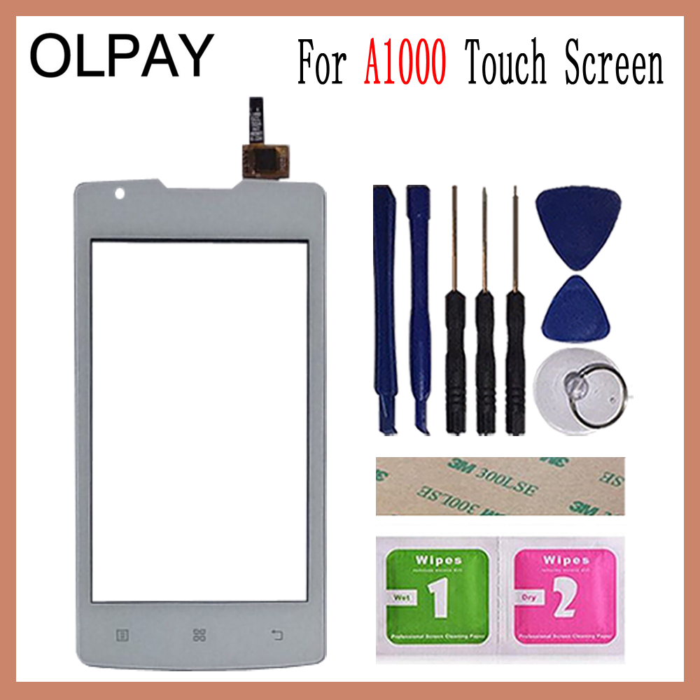 Image 3 - OLPAY 4.0 inch For Lenovo A1000 A 1000 Touch Screen Glass Digitizer Panel Touch Screen Front Glass Lens Sensor Tools-in Mobile Phone Touch Panel from Cellphones & Telecommunications
