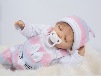46cm 18inch Silicone Reborn Baby Doll Toys Vinyl sleeping toddlers realistic Doll High Quality Birthday Gift Play House Toy