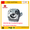 loncin 65.5mm cqr KAYO BSE 250cc dirt pit bike atv quad motorcycle CB250 cylinder head camshaft valve swing arm motorcycle