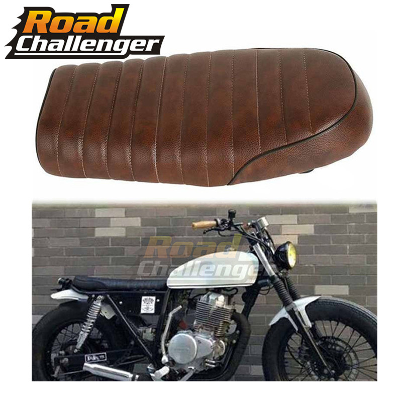 Parts & Accessories Brown HONDA Flat Brat Universal Cafe Racer Seat