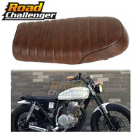 Brown Motorcycle Cafe Racer Seat Scrambler Vintage Flat Saddle Flat pan Retro Seat For Honda CB350 CB450 CB750 CB200