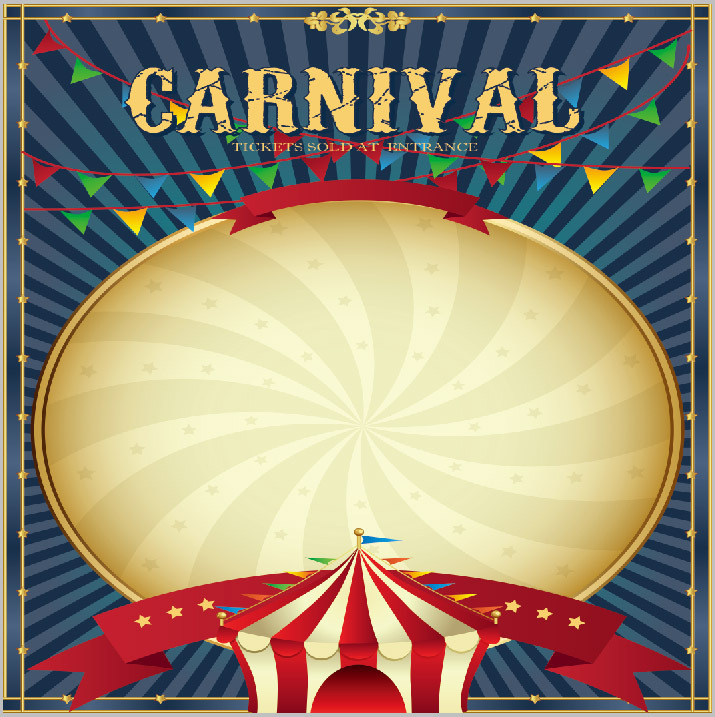Xft Carnival Circus Tent Stage Stripes Kids Children Custom Photography Studio Backgrounds Backdrop Vinyl Cm X