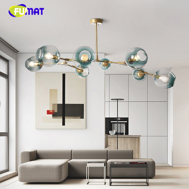 Lindsey Lighting European Modern Branch DNA Chandelier Lamp Magic Bean Living Room Light Bedroom Glass LED Droplights modern magic bean dna molecules chandelier pendant lamp dna lamp modern glass ball lamps with 10 bulbs