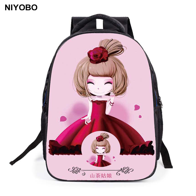 New Children Cartoon School Bag For Girls Students Princess School Backpack Gift kid school bag pack Mochila PT526