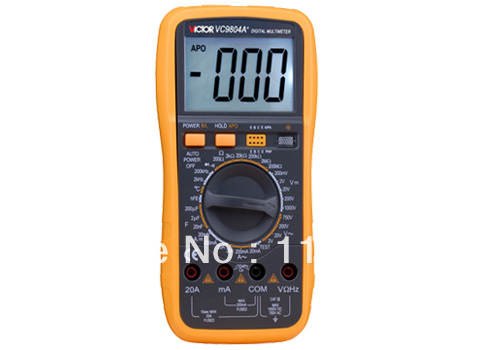 Digital Multimeter/Victor/VC9804A+ 3/4 Auto Range Temperature Test Streamline Design & Large LCD Display digital multimeter victor vc 6056d3 4 auto range temperature test streamline design