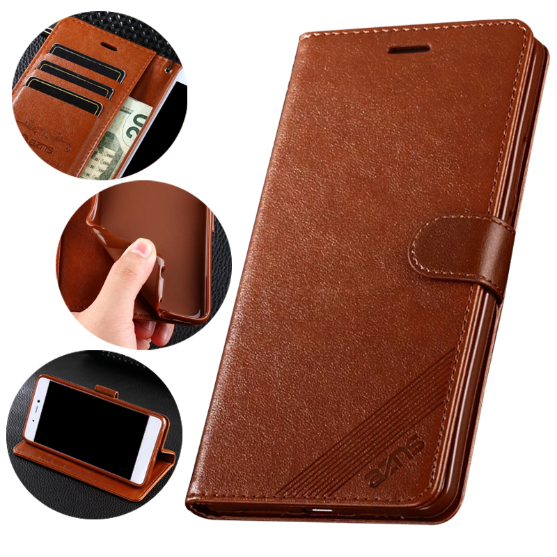 <font><b>Cases</b></font> For Huawei <font><b>Honor</b></font> <font><b>8x</b></font> <font><b>8x</b></font> max Cover Luxury Flip Wallet <font><b>Magnetic</b></font> Vintage Leather Phone Bags For Huawei <font><b>Honor</b></font> <font><b>8x</b></font> max Card Slot image