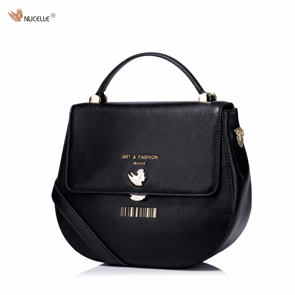 NUCELLE Brand Design Fashion Barcode Stamping Cow Leather Women Girls Ladies Handbag Shoulder Crossbody Small Saddle Bags nucelle brand design vintage luxury leopard with horse coat cow leather women ladies handbag shoulder crossbody flap bags