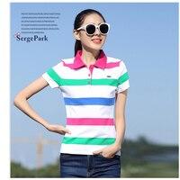2017 France Luxury Brand Eden Serge Park Lady Womens Polo Shirt Summer Stripe Design For Golf