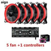 Aigo Fan Octave Space R5 Computer Desktop Fan Box 12 Cm Aurora Aperture Water Cooling Fan