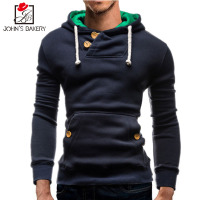 New Brand 2017 Hoodies Brand Men Solid Color Sweatshirt Male Hoody Hip Hop Autumn Winter Zipper