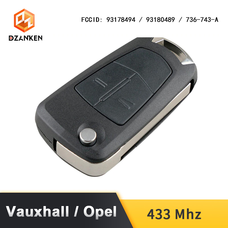 Image 4 - Remote Car Key Cover for Opel Astra H Zafira B /Vauxhall with Transponder Chip  & Uncut DIY Blade 433Mhz Opel Astra Car Key Suit-in Car Key from Automobiles & Motorcycles
