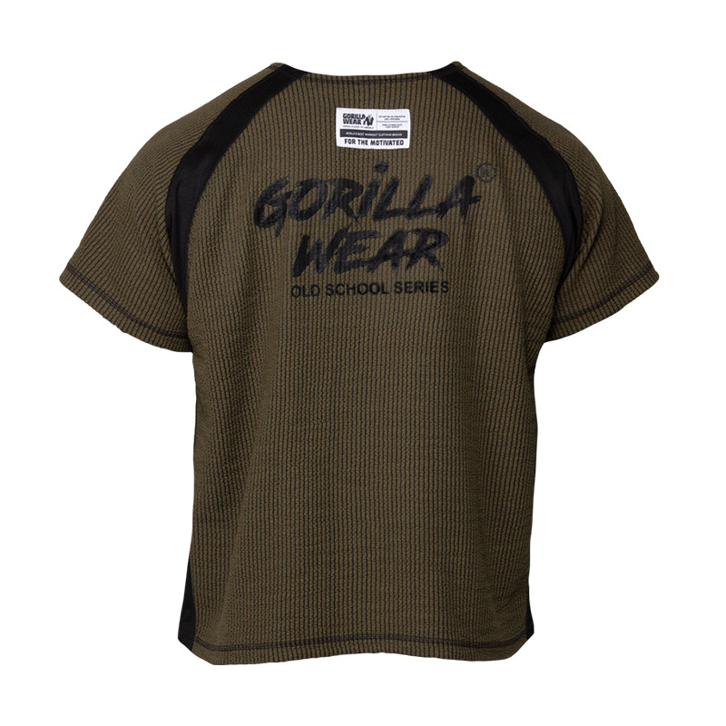 T-Shirt Men Gorilla Wear New Summer Cool Tshirt Short Sleeve Breathable Fitness T Shirts Mens Gyms Bodybuilding Brand Clothing