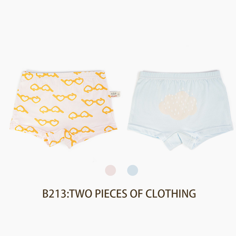Niduo Bear 2 Pcs lot Cartoon Boys Underwear Soft Breathable Kids Boxer for 5 12Yrs Baby Panties Kawaii Boy Briefs Underpants in Panties from Mother Kids