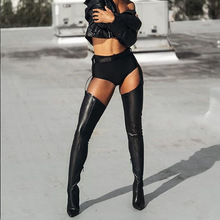 2019 New Women Over the Knee Boots PU Over Knee Boots High Boot Rihanna Style for Women Shoes Pointed Toe 10 cm High Heels Boots cheap Prowow Over-the-Knee Fits true to size take your normal size Winter Solid Thin Heels Basic Wool Blend Rubber zipper Short Plush