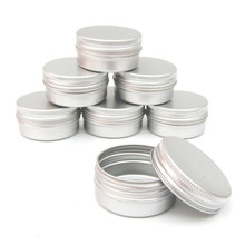 12pcs/set 60ml Tin Box Screw Thread Small Round Lip Balm Metal