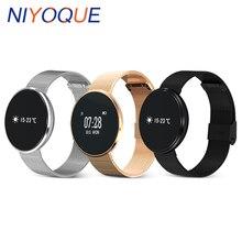 Niyoque B10 Bluetooth Smart Band здоровья запястье браслет Приборы для измерения артериального давления кислорода сердечного ритма Мониторы спортивные группы для IOS Android