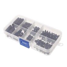 160 шт. M3 нейлон черный M-F шестигранные перегородки винт набор гаек комплект подставка-выключатель