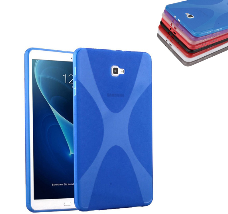 X-Line X Soft TPU Silicon Case Semi Transparent Clear Gel Cover Skin Shell Case For Samsung Galaxy Tab A 10.1 (2016) T580 T585 x line soft silicone rubber tpu case back cover skin shell for for samsung galaxy tab a 8 0 inch t350 t351 t355 case