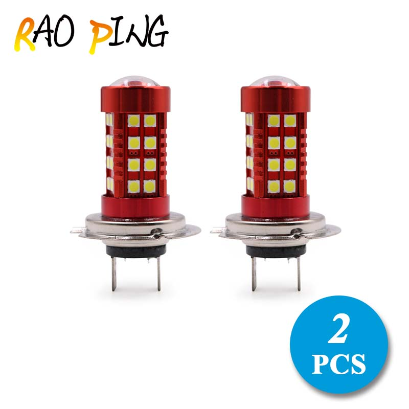 Raoping 2PCS H7 LED DRL Car Fog Light 12V Led 36SMD 3030 Auto Headlight Bulbs Driving Light Car Styling White Bright New Arrival 12v led light auto headlamp h1 h3 h7 9005 9004 9007 h4 h15 car led headlight bulb 30w high single dual beam white light