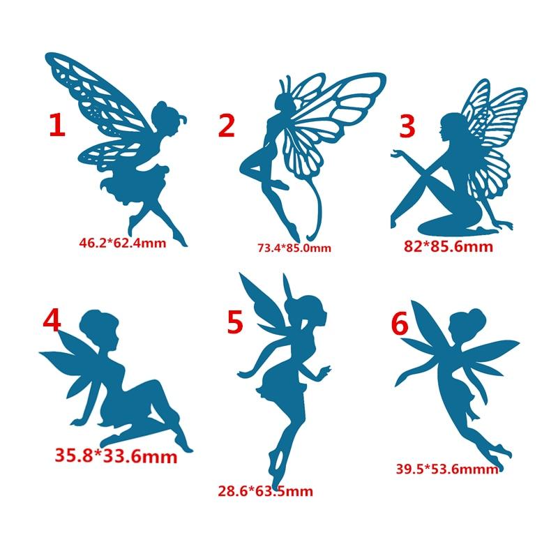 Home & Garden 6pcs New Angel Girl Metal Cutting Dies Scrapbooking For Card Making Diy Embossing Cuts New Craft Elf Little Fairy Element Cutting Dies
