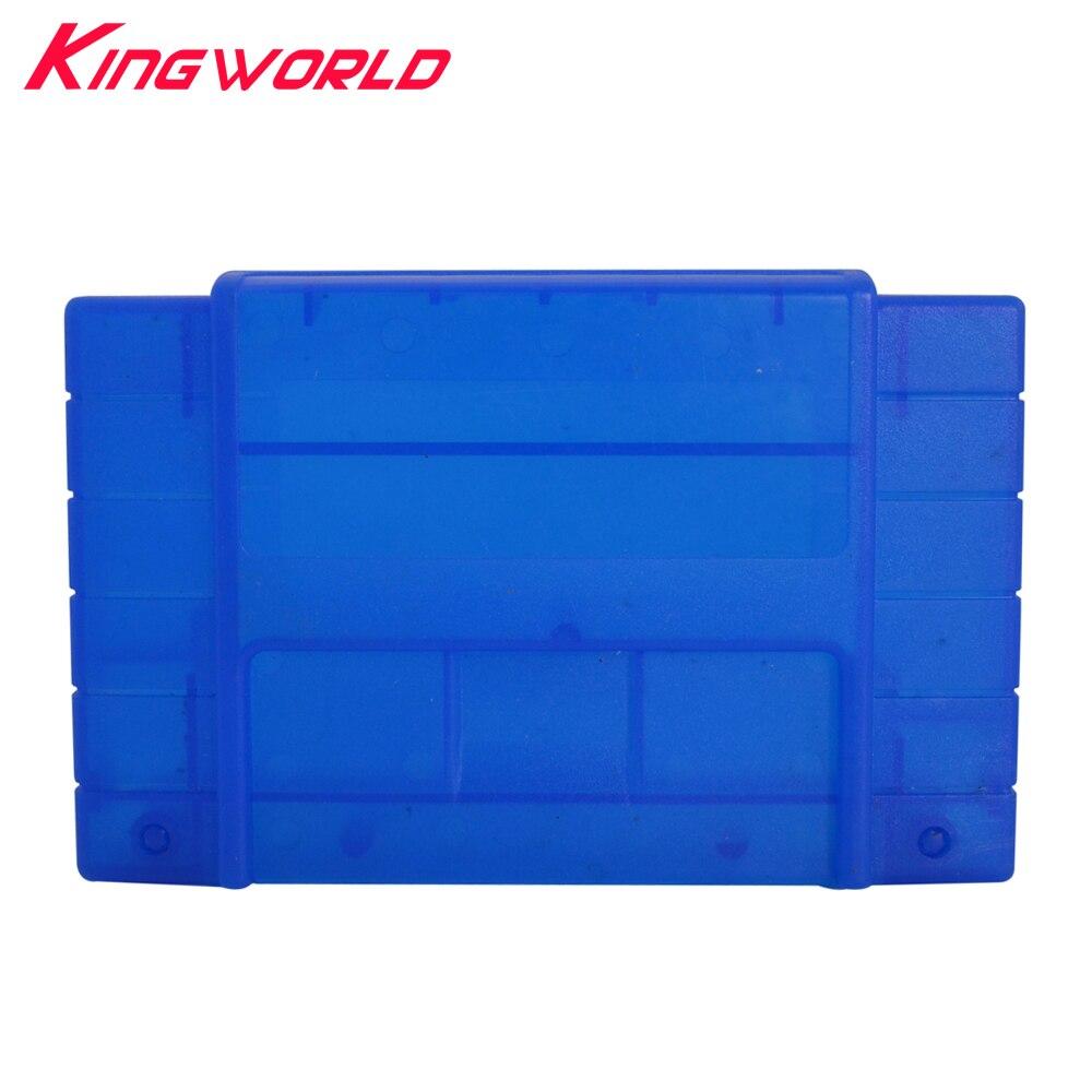 100pcs Transparent blue Game Cartridge card 16bit shell Plastic Shell for Super Famicom for Nintendo SNES game Console