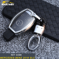 Gelinsi For Mercedes Benz 2018 GLC Auto Car key case key cover trim Accessories