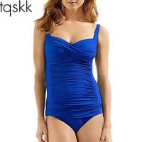 M 4XL Plus Size Swimwear One Piece Swimsuit Women 2016 Summer Beachwear Halter Push Up Bathing