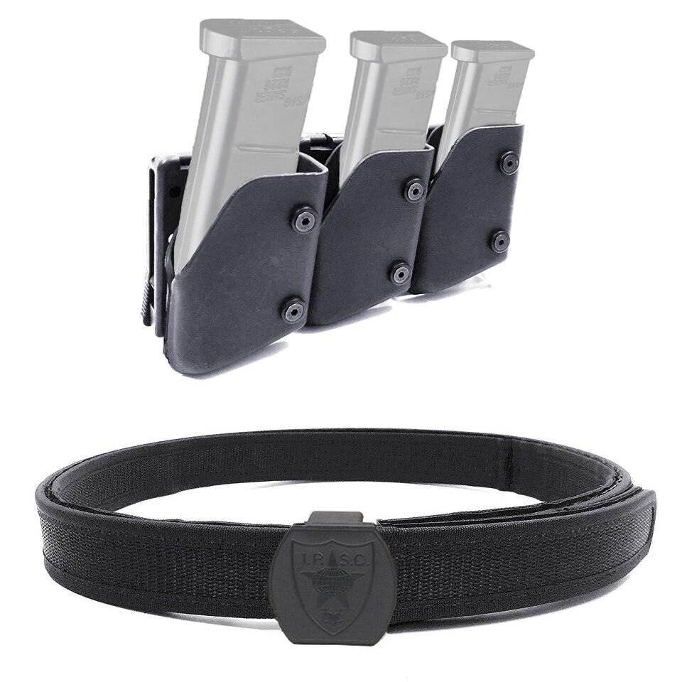 IPSC USPSA IDPA compétition haute vitesse accessoire de tir 1x ceinture & 3x tirage rapide pistolet Magazine pochette Mag porteur étui