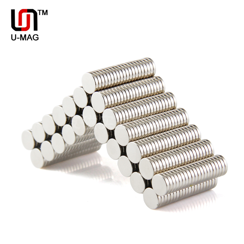100pcs Strong 8x1.5mm Round Dia. 8mm x 1.5mm N50 Rare Earth Neodymium Magnet Art Craft Fridge Hot sale 3 x 4 8mm cylindrical ndfeb magnet silver 100pcs