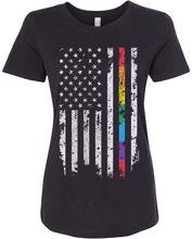 Women's Gay Pride Rainbow American Flag T-shirt Good Quality Brand T-shirt Women Cotton Top Design T Shirt  Funny Tops