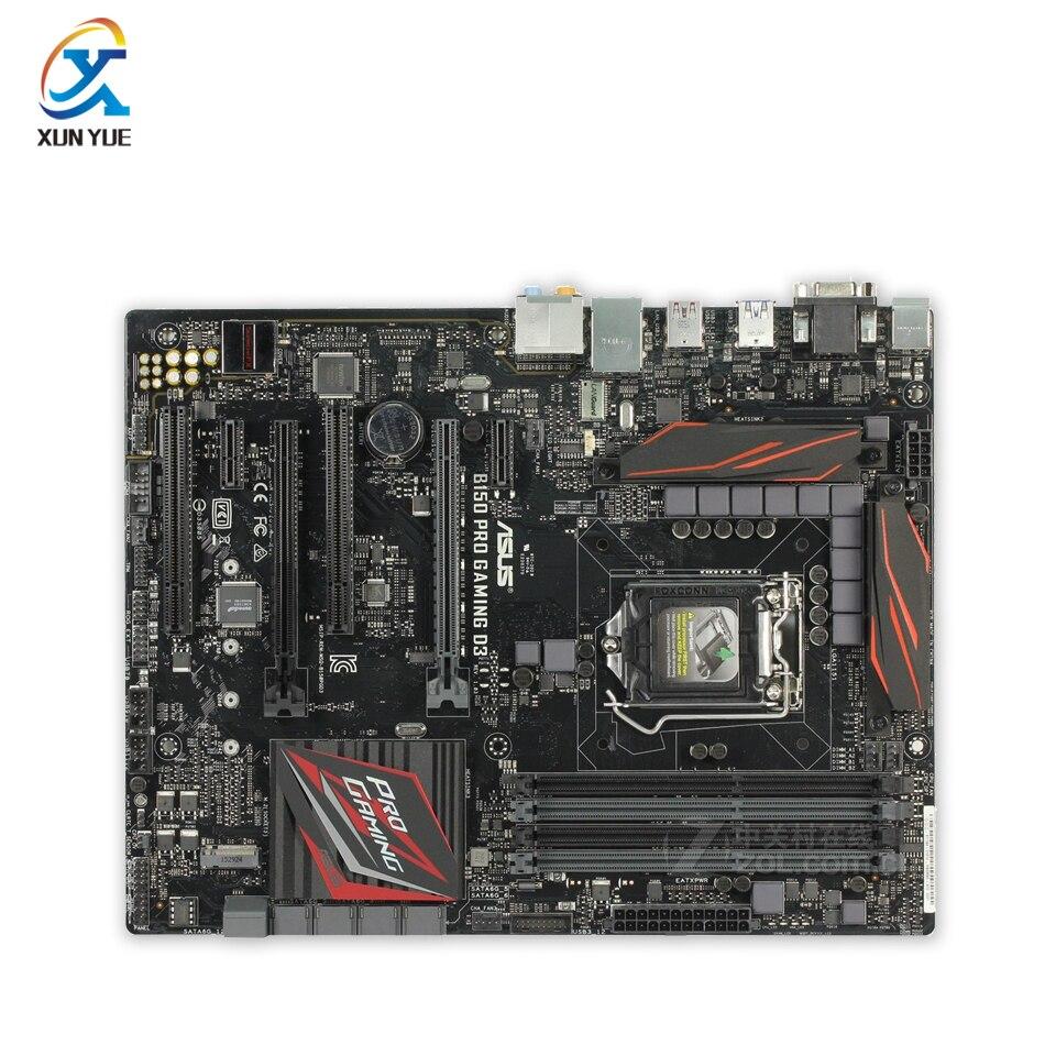 Asus B150 PRO GAMING D3 Original New Desktop Motherboard Intel B150 Socket LGA 1151 i7 i5 i3 DDR3 64G SATA3 ATX asus asus b150 pro d3 atx