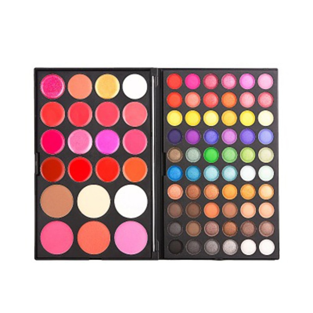 82 colors Eye shadow blush concealer lip gloss eyebrow powder combination multifunctional makeup box Cosmetic Makeup Set in Eye Shadow from Beauty Health