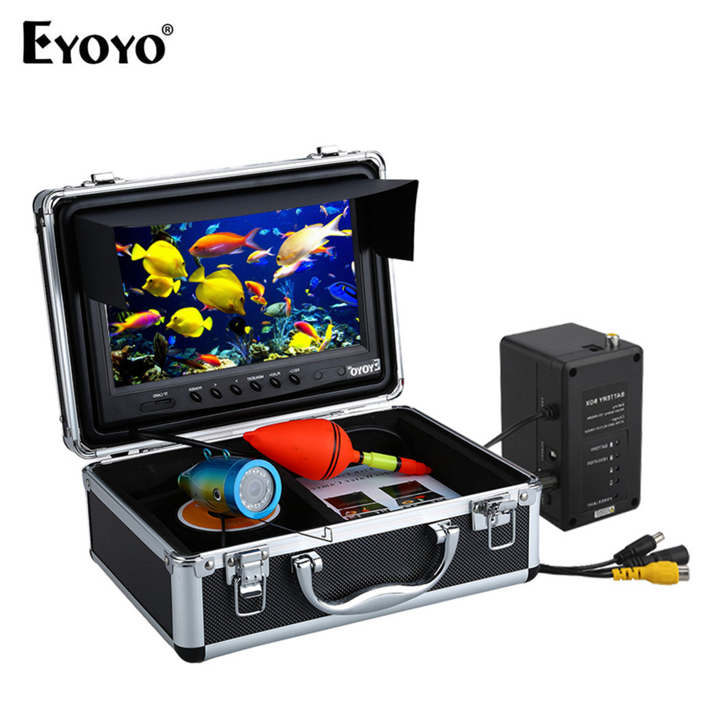 Eyoyo WF09 Fish Style 9 30M Fishing Camera Underwater Fish Finder 1000TVL Video Camera 8GB DVR Video Recording 12pcs LED цена