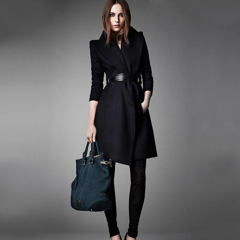 Online Buy Wholesale winter women woolen long coat with belts from ...