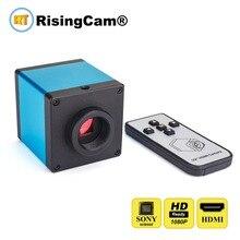 Câmera de vídeo digital do microscópio da montagem de usb c para o reparo industrial do pwb controle remoto sony imx385 sensor hd 1080 p 60fps hdmi