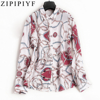 2018 New Women Spring Summer Runway Fashion Floral Print Single Breasted Full Sleeve Office Lady Slim