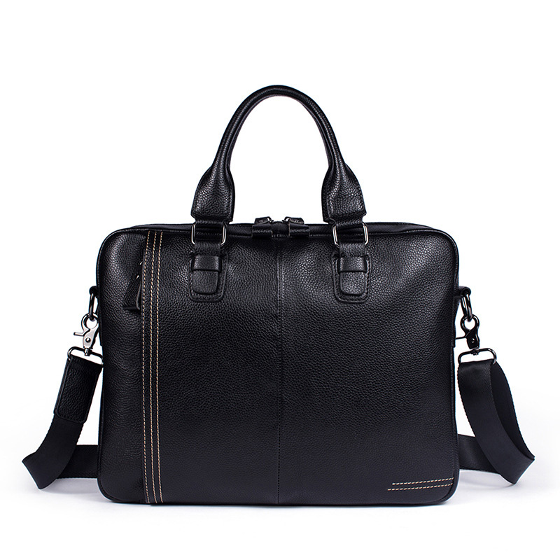 New Genuine Leather Men's Bag Business Men's Briefcase Handbags Casual Shoulder Crossbody Bags for Men Messenger Bags Laptop Bag deelfel new brand shoulder bags for men messenger bags male cross body bag casual men commercial briefcase bag designer handbags