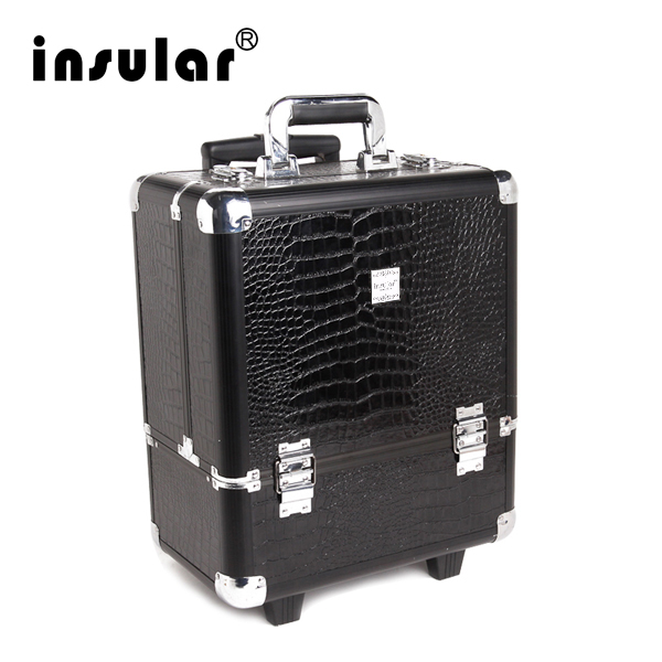 Professional Aluminum Makeup Trolley Case With Padlock Aluminum Cosmetic Case цена