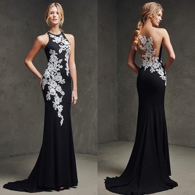 70a7551f5 2017 robe de soirée elegante fiesta de noche largo vestido de encaje blanco  negro largo de