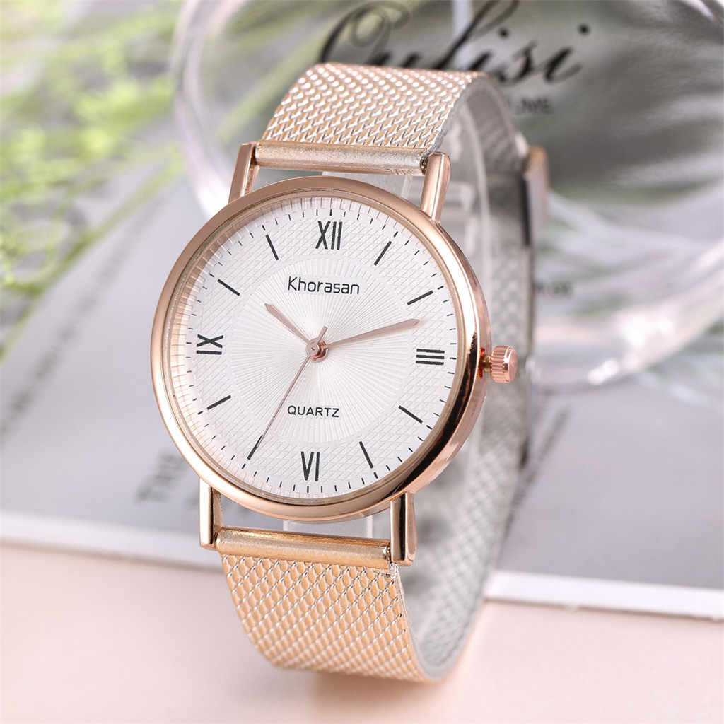 Khorasan Fashion Casual Brand Women Men Watch Plastic Strap Simple Roman Scale Ladies Clock Quartz Wrist Watches bayan kol saati