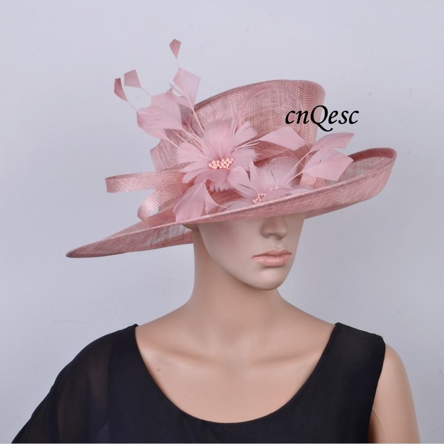 Nuevo Gran Colorete sinamay sombrero vestido formal con flores de ...