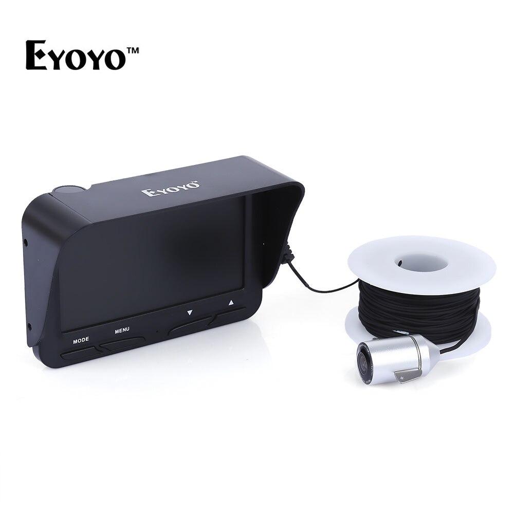 Eyoyo 30M 720P Underwater Fishing Finder 1000TVL ICE Underwater Camera Fishing Camera with Infrared LED Sun Visor Fishing Tools underwater