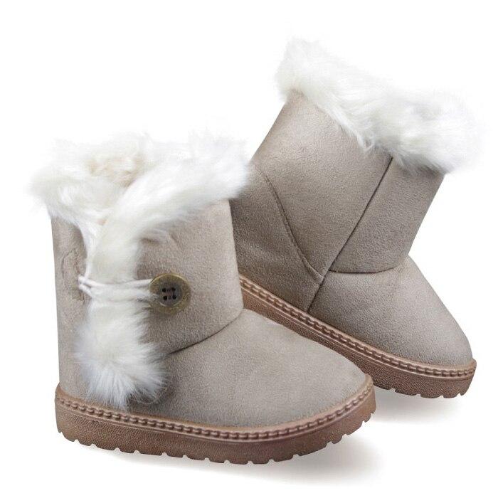 ENFANTS D hiver De Mode enfant filles bottes de neige chaussures chaudes en  peluche fond mou bébé filles bottes d hiver botte de neige pour les garçons  45 ... 60e9d6f9267c
